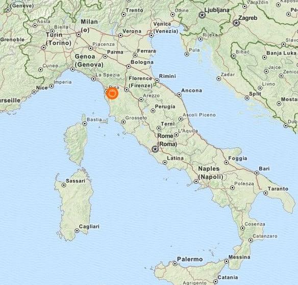 Siedziba Amedei na mapie Włoch