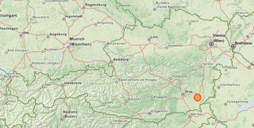Bergl na mapie Austrii - Zotter